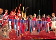 Students displayed their many talents with voices and boomwhackers!
