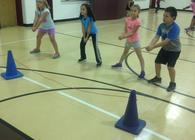 Fun with Volleyball in PE!