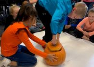 2nd Graders Study the Life Cycle of Pumpkins