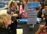 Students Build Paper Towers In Science